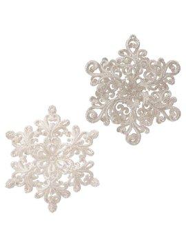 "Whimsical Glittering  Snowflake 5"""