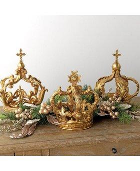 Raz Ornate Gilded Antique Resin Crown