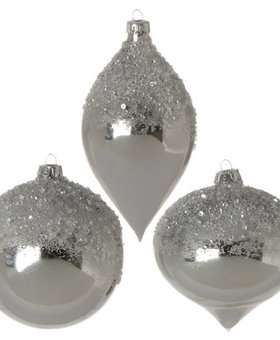 Raz Ice Sparkle Ornaments 4""