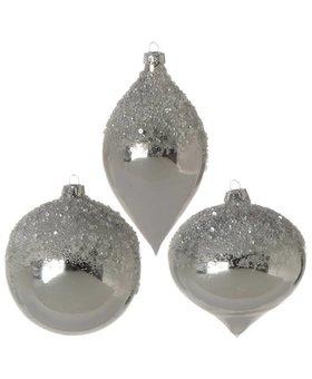 """Raz Ice Sparkle Ornaments 4"""""""