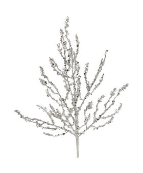 "Raz Silver Sequined Branch 24"""