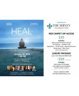 The Shiney Foundation VIP Heal Ticket