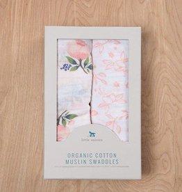 Organic Cotton Muslin Swaddle 2 Pack