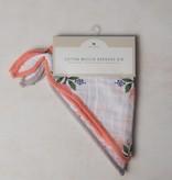 Cotton Muslin Bandana Bib 2 Pack