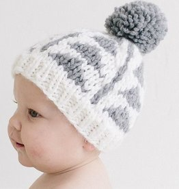 The Blueberry Hill Blake Gray Triangle Knit Beanie