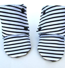 Cabooties Black and White Stripe Boots