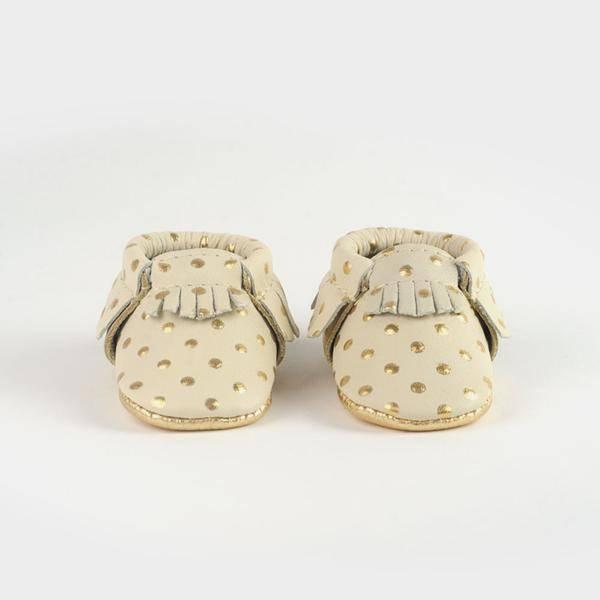 Newborn Moccasins- Heirloom in Cream