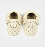 Newborn Moccasins- Heirloom in Cream