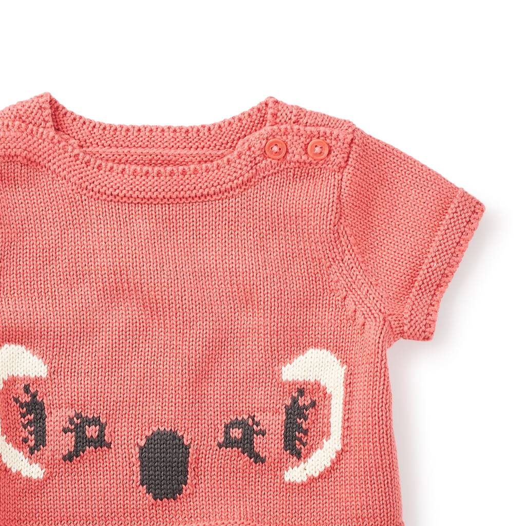 Tea Collection Bellow Baby Sweater - Coral Pink