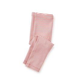 Tea Collection Striped Capri Leggings - Coral Pink