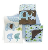 Bumper Free 4 pc Crib Bedding Set
