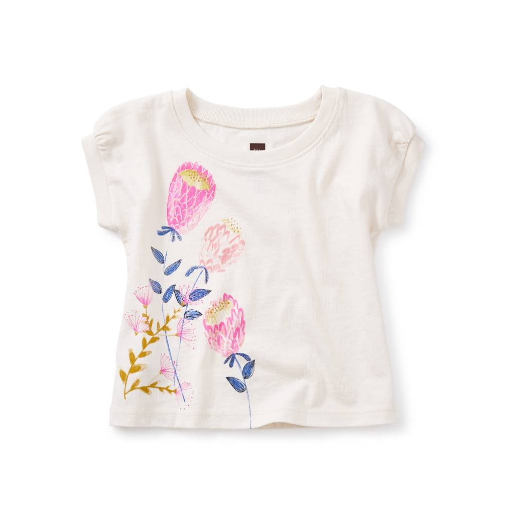 Tea Collection Banksia Graphic Baby Tee
