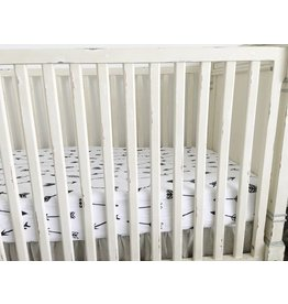 Modern Burlap Organic Crib Sheet- Arrows