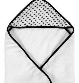 Modern Burlap Muslin + Terry Hooded Towel- XO