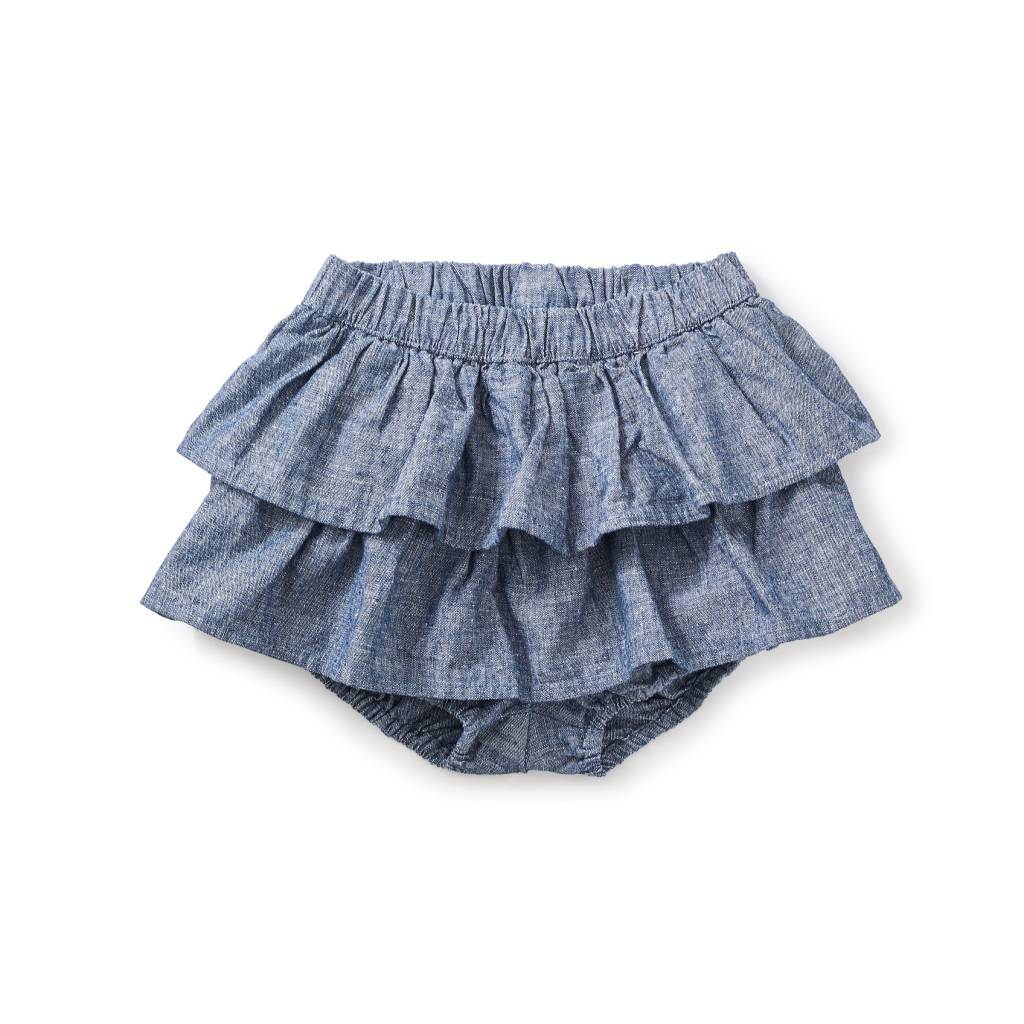 Tea Collection Citizen Chambray Ruffled Bloomers