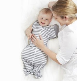 Love To Dream Love To Dream Swaddle Up 50/50 Grey Stripe