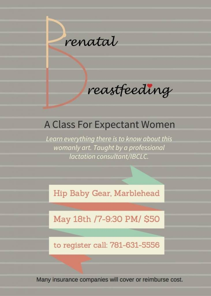 Hip Baby Gear Breastfeeding Seminar- May 18th