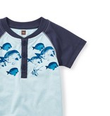 Tea Collection Parrot Fish Henley Romper