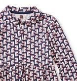 Tea Collection Scottie Dog Shirtdress