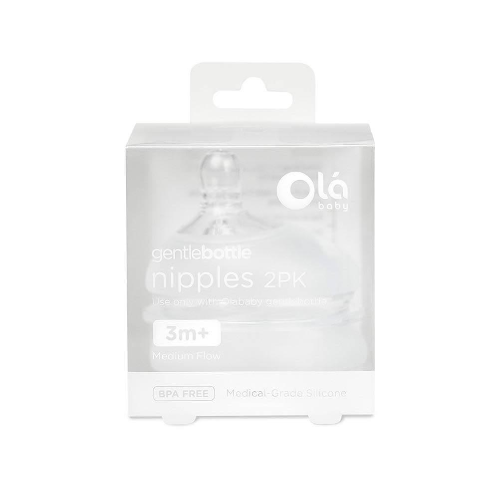Olababy Gentle Bottle Nipples- 2PK