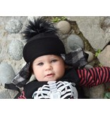 George Hats Solid Black Pom Hat