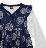 Tea Collection Wish Button Neck Dress