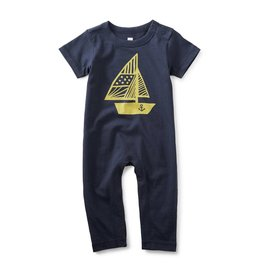 Tea Collection Hey Sailor Graphic Romper