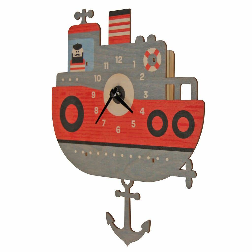 Modern Moose Tugboat Pendulum Clock