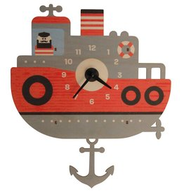 Modern Moose Tugboat Pendulum Clock