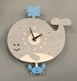 Modern Moose Whale Pendulum Clock