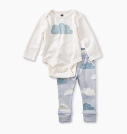 Tea Collection 2-Piece Bodysuit Baby Outfit- Cloud