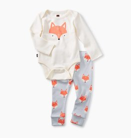 Tea Collection 2-Piece Bodysuit Baby Outfit- Fox