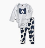 Tea Collection 2-Piece Bodysuit Baby Outfit- Bear