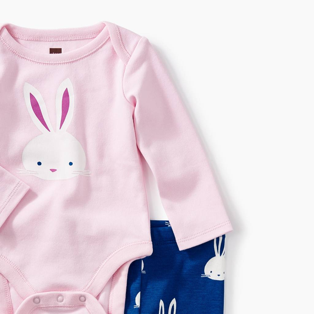 Tea Collection 2-Piece Bodysuit Baby Outfit- Bunny
