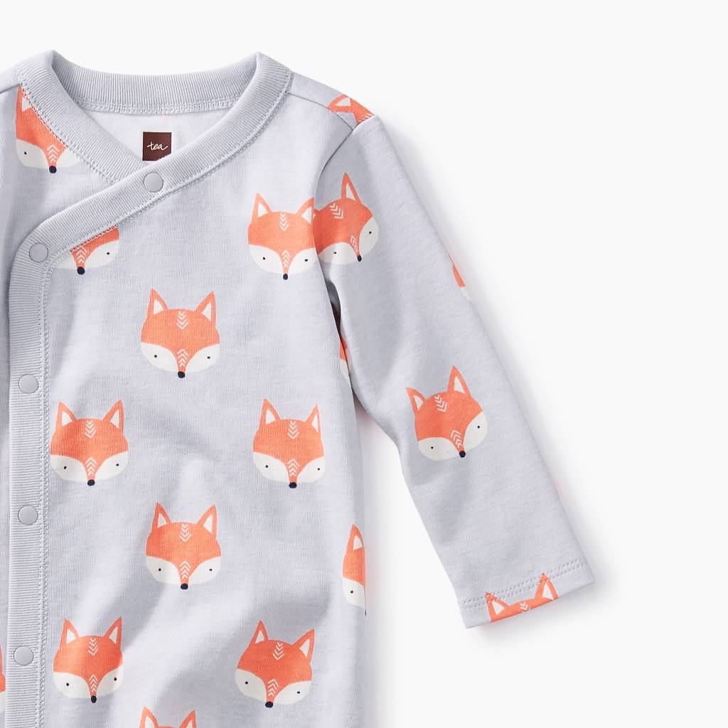 Tea Collection Footed Romper- Foxes