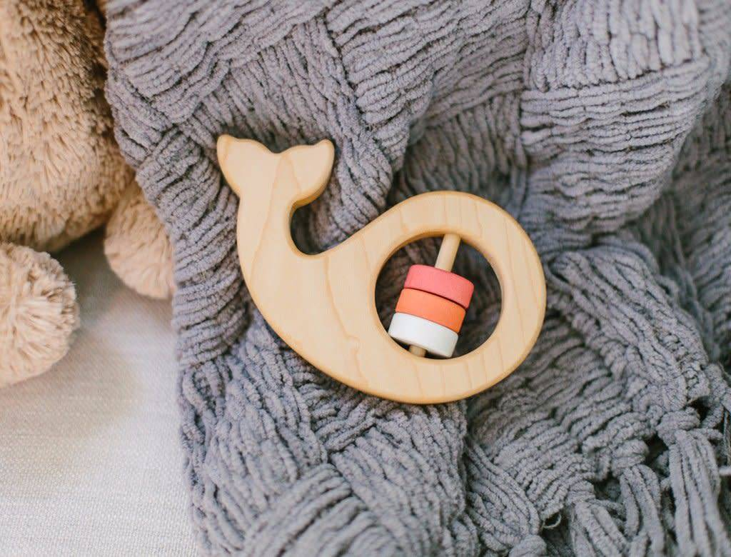 Maple Whale Rattle