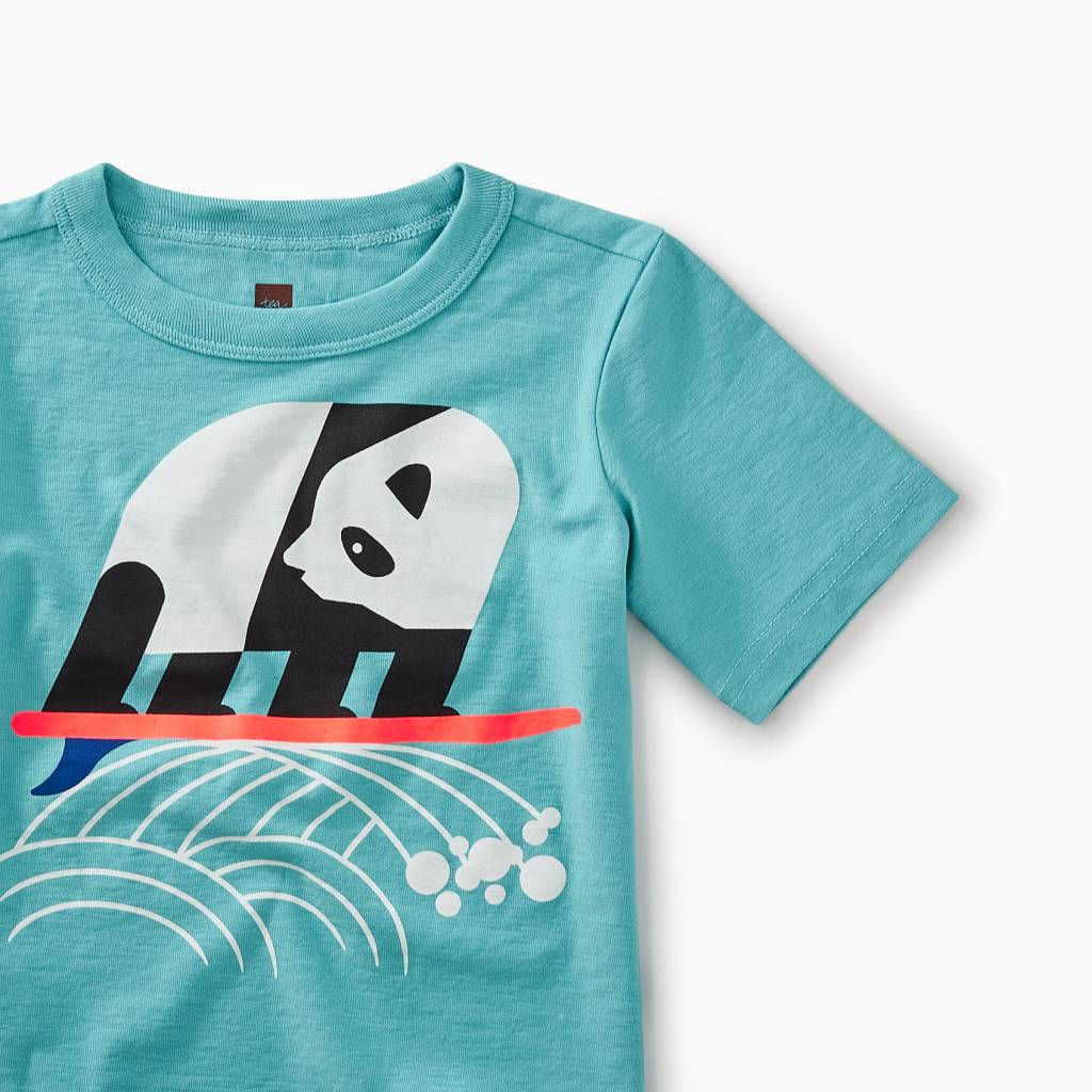 Tea Collection Surfing Panda Graphic Baby Tee