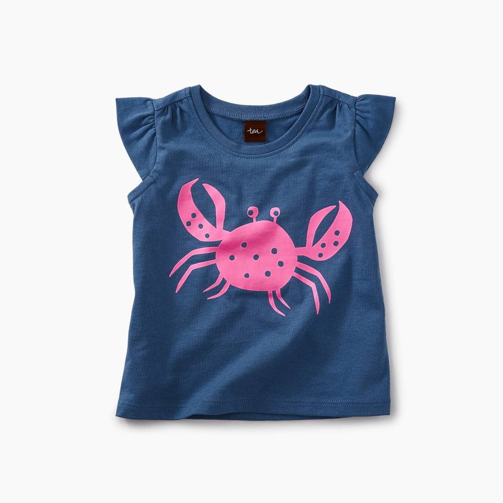Tea Collection Crabby Graphic Baby Tee