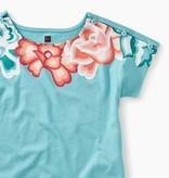 Tea Collection Short Sleeve Button Shoulder Dress