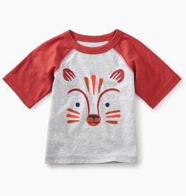 Tea Collection Fox Graphic Baby Raglan Tee