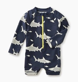 Tea Collection Baby Rash Guard One-Piece, Sharks