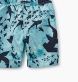 Tea Collection Print Swim Trunks- Swarming Sharks