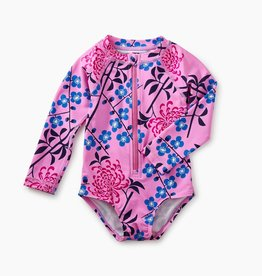 Tea Collection Baby Rash Guard One-Piece, Branch Blossoms