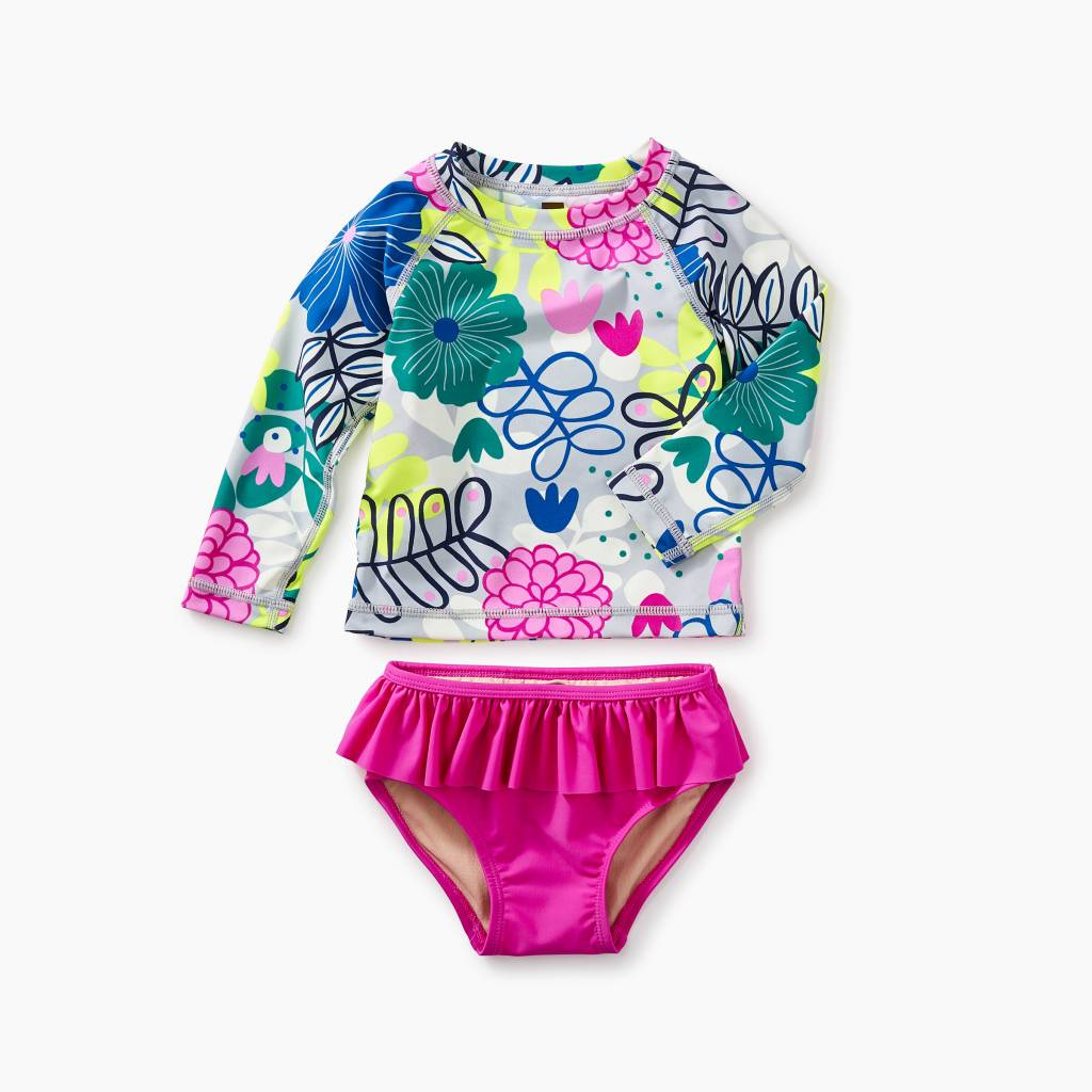 Tea Collection Baby Rash Guard Set- Colorful Bouquet
