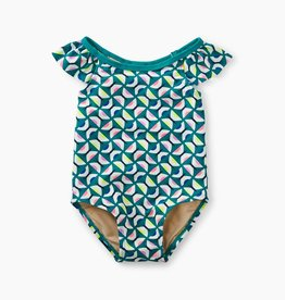 Tea Collection Baby One-Piece, Geo Butterflies