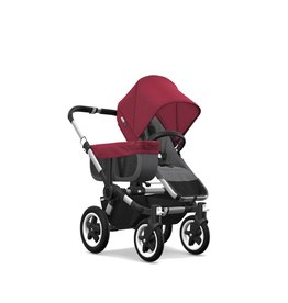 Bugaboo Donkey2 Complete- Ruby Red/Grey Melange