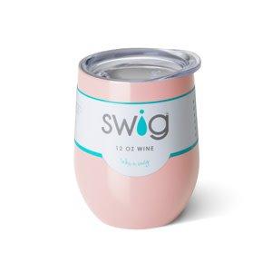 Swig 12oz Stemless Wine Cup- Pink