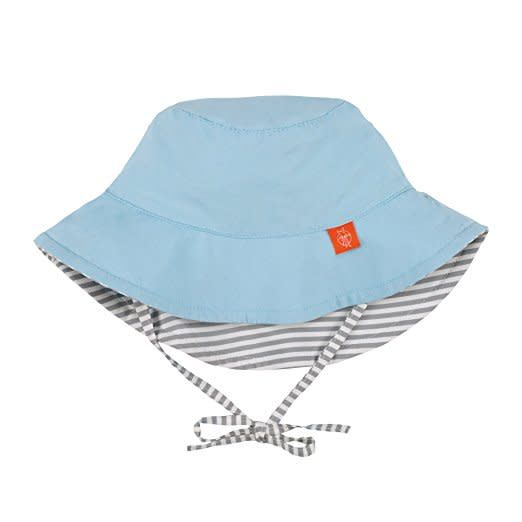 Sun Protection Bucket Hat- Small Stripes
