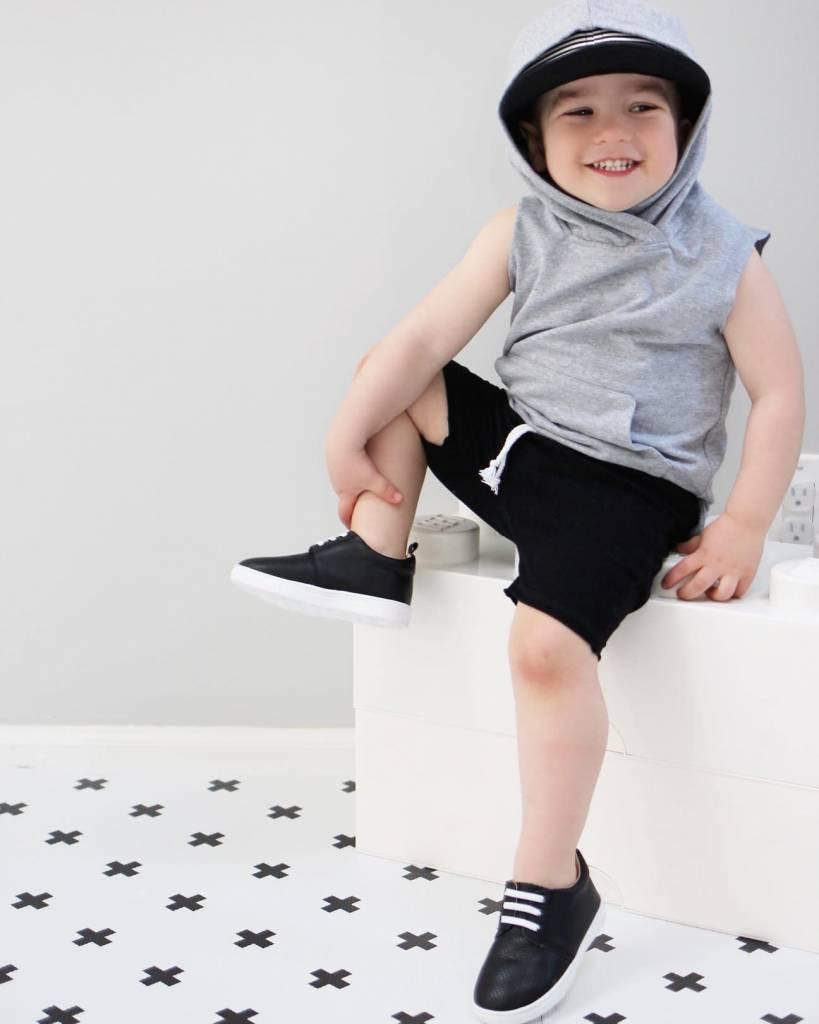 Little Bipsy Raw Edge Harem Shorts- Black