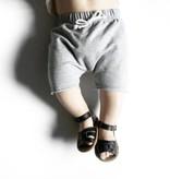 Little Bipsy Raw Edge Harem Shorts- Grey